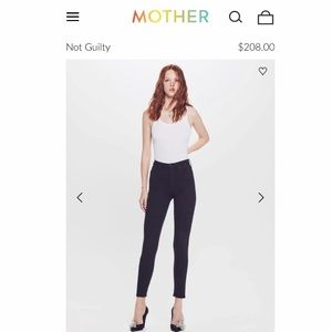 NWT MOTHER Diamond Swooner High-Rise Skinny Jeans